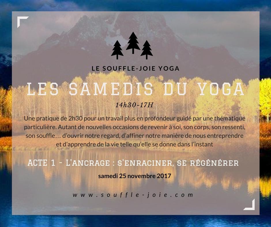 samedis yoga ancrage