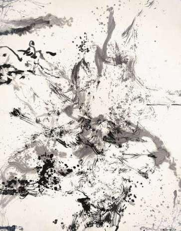 Zao Wou-Ki Encre de chine sur papier