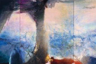 Zao Wou-Ki Hommage à Calude Monet